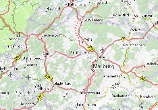 Carte-Plan Sterzhausen