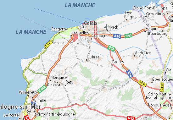 Guînes Map