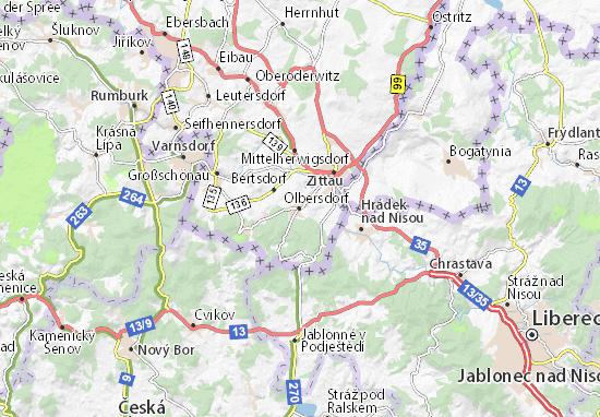 Mapa Plano Olbersdorf