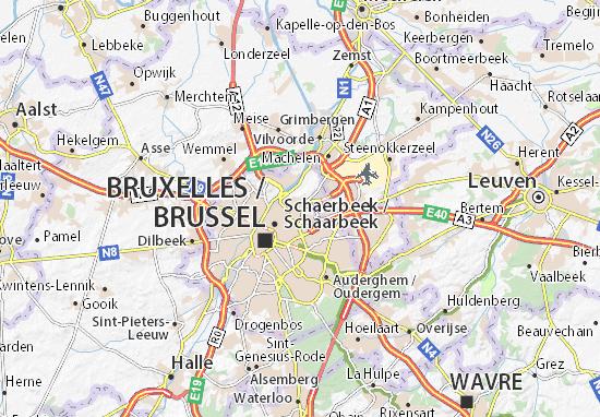 Karte Stadtplan Evere