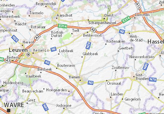Kaart Plattegrond Glabbeek