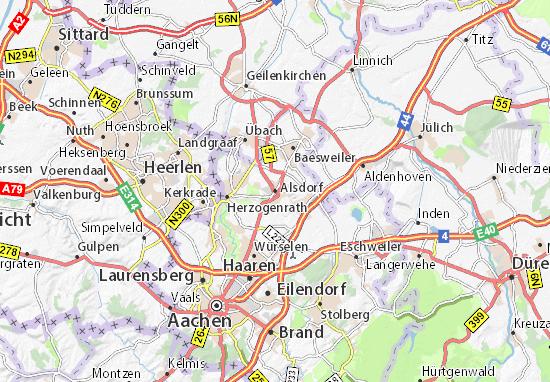 Carte-Plan Alsdorf