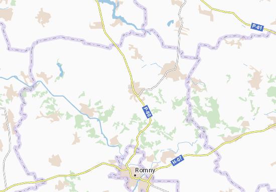 Carte-Plan Khmeliv