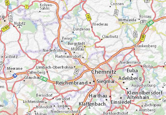 Hartmannsdorf Map