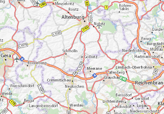 Carte-Plan Gößnitz