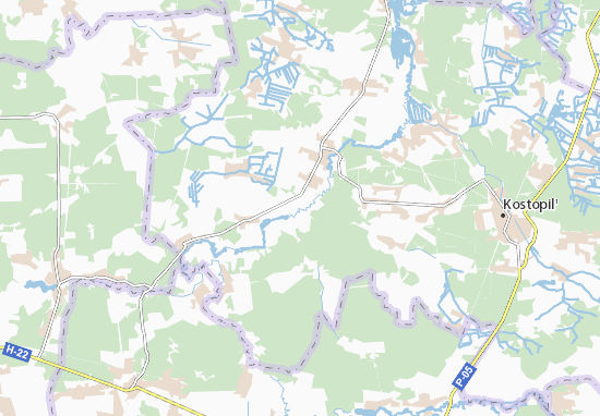Mapas-Planos Zvizdivka
