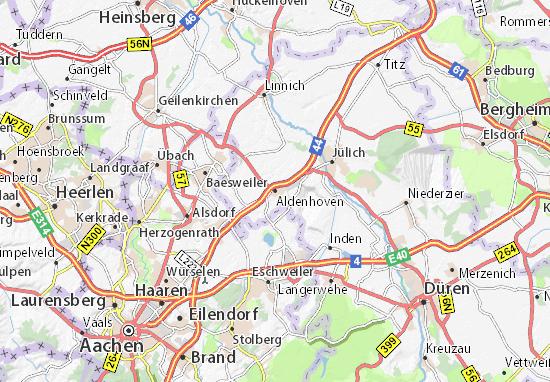 Carte-Plan Aldenhoven