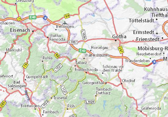 Carte-Plan Waltershausen