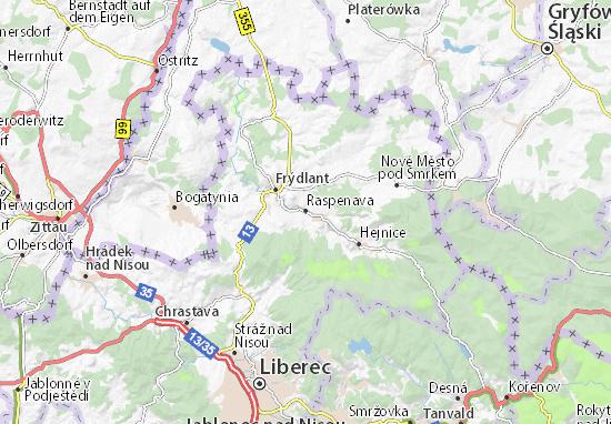 Raspenava Map