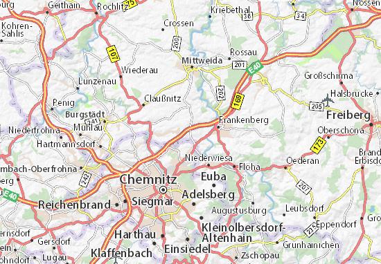 Karte Stadtplan Oberlichtenau