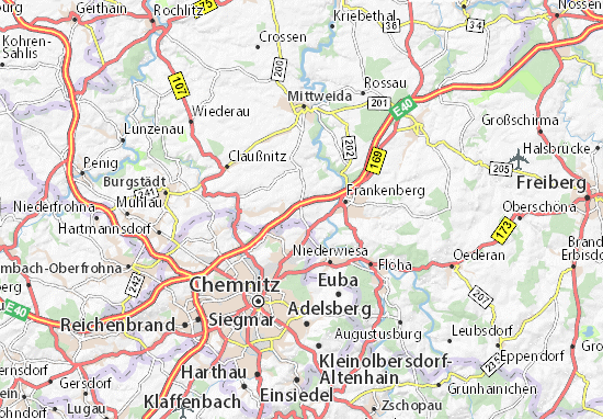 Oberlichtenau Map
