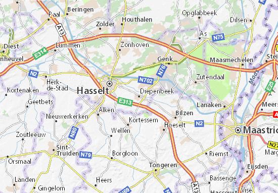 Carte-Plan Diepenbeek