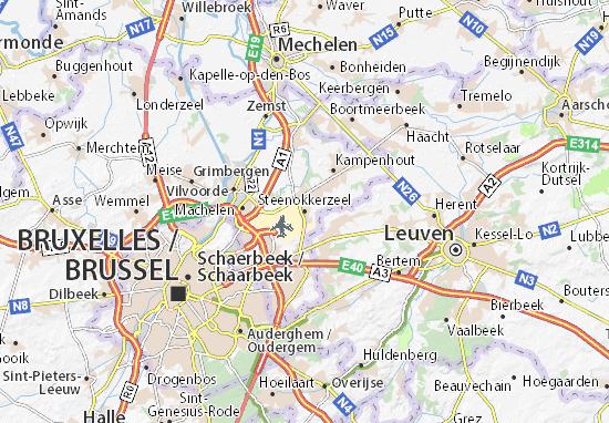 Karte Stadtplan Steenokkerzeel