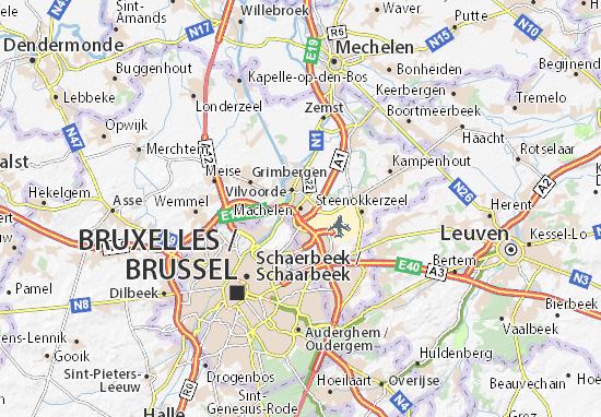 Karte Stadtplan Machelen