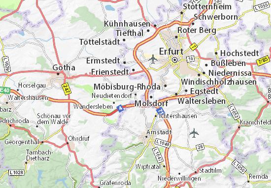 Mapa Plano Neudietendorf