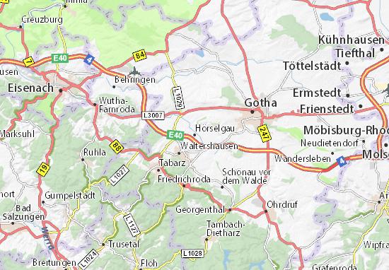 Hörselgau Map