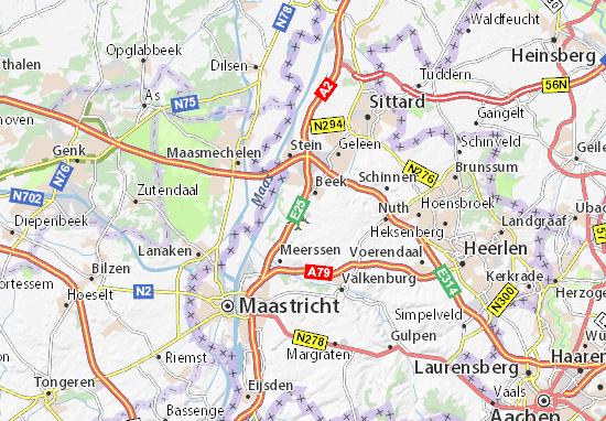 Kaart Plattegrond Maastricht-Airport