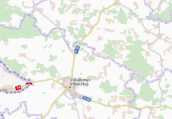 Mapa Plano Ovadne