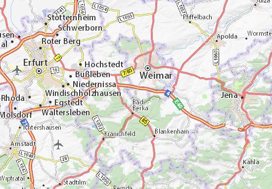 Karte Weimar Und Umgebung.Karte Stadtplan Legefeld Viamichelin