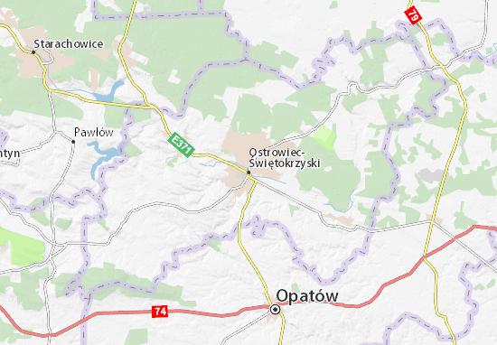 Mapa Ostrowiec-Świętokrzyski