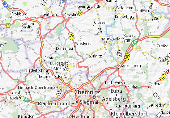 Claußnitz Map