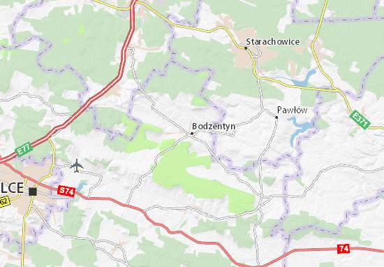 Mapa Bodzentyn