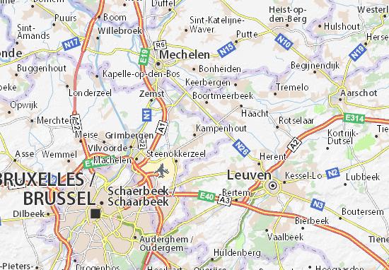 Mapas-Planos Kampenhout