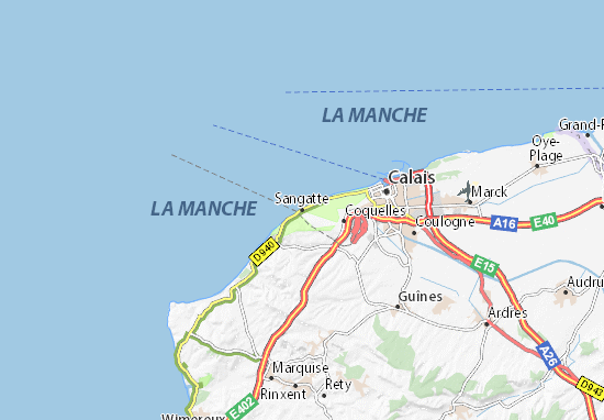 Sangatte Map