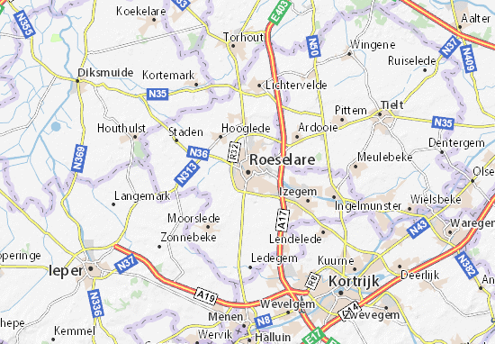 Roeselare Map