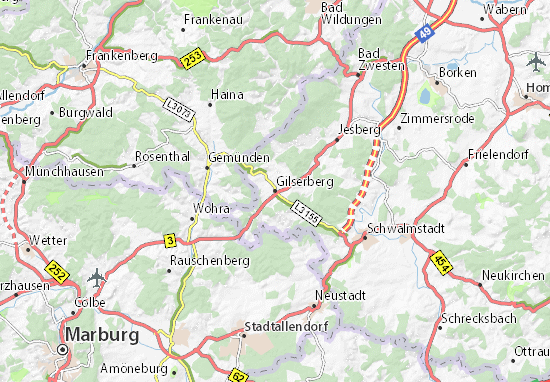 Carte-Plan Gilserberg