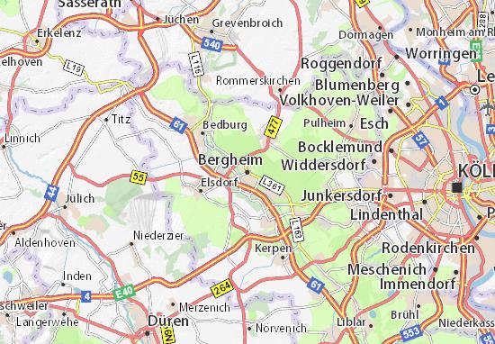 Kaart Plattegrond Bergheim