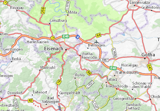 Wutha-Farnroda Map