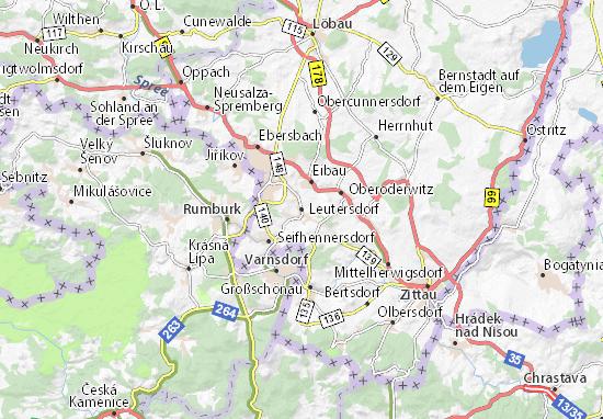 Leutersdorf Map