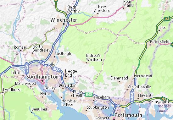 Carte-Plan Bishops Waltham