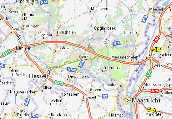 Carte-Plan Genk