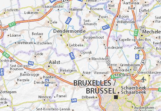 Kaart Plattegrond Opwijk