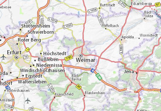 Carte-Plan Weimar