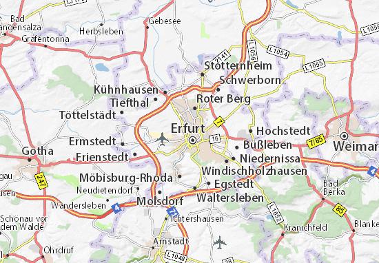 Carte-Plan Andreasvorstadt