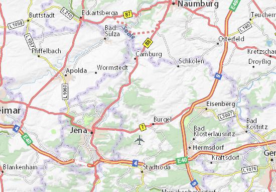 Map Of Tautenburg Michelin Tautenburg Map ViaMichelin - Germany map jena