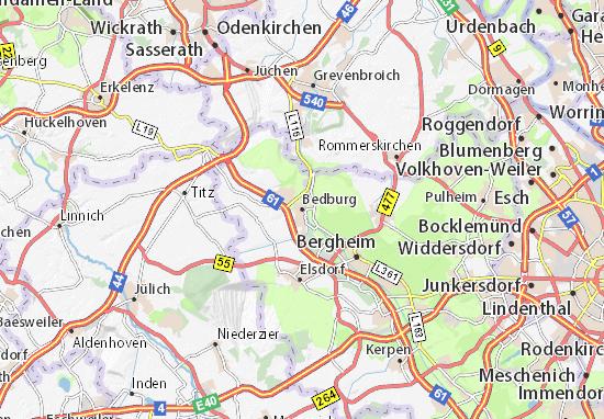 Karte Stadtplan Bedburg
