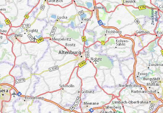 Kaart Plattegrond Altenburg
