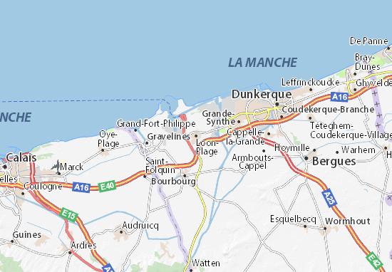Karte Stadtplan Loon-Plage