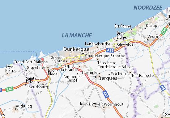 Kaart Plattegrond Coudekerque-Branche
