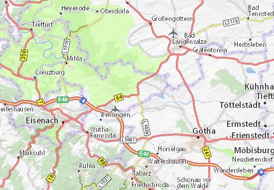 Landkreis Gotha Karte.Karte Stadtplan Oesterbehringen Viamichelin