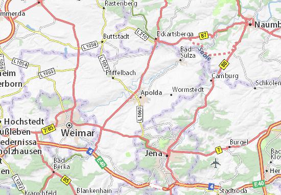 Karte Stadtplan Apolda