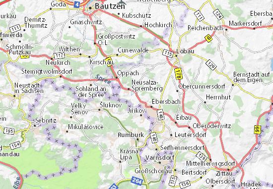 Carte-Plan Friedersdorf