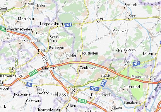 Mapa Plano Houthalen