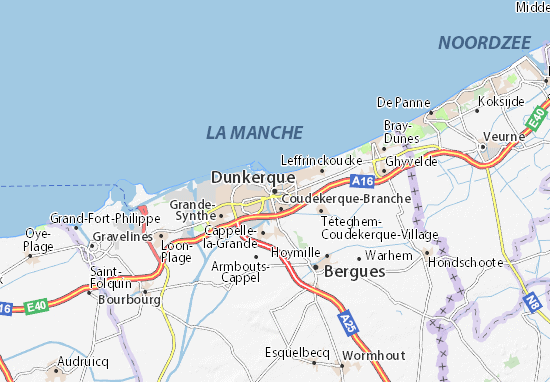 Dunkerque Map