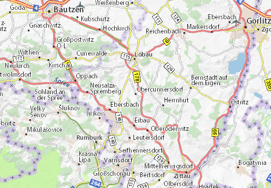 Mapas-Planos Obercunnersdorf