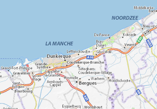 Mapa Plano Leffrinckoucke